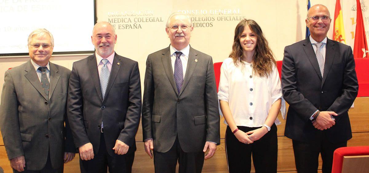Los representantes del Foro de la Profesión Médica, este miércoles en la sede de la Organización Médica Colegial (OMC)