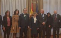 La ministra Carcedo, durante su reunión con el Consejo General de Farmacéuticos