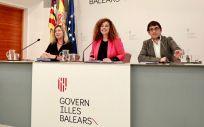 Patricia Gómez, Pilar Costa y Iago Negueruela, consejeras de Salud, Presidencia y Trabajo.