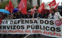 Una de las protestas en defensa de la sanidad pública gallega celebradas el pasado mes de abril Vigo.