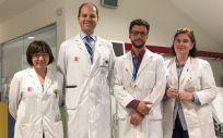 Miembros del equipo de investigación de Valdecilla que participan en el ensayo sobre el mieloma