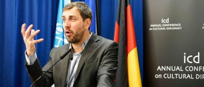 Toni Comín, exconsejero de Salud de la Generalitat de Cataluña, en un acto en diciembre
