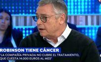 Michael Robinson durante su entrevista en 'Espejo Público' (Antena 3).