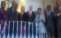 Los representantes de España y la India, este miércoles en la sede de la Organización Nacional de Trasplantes (ONT)