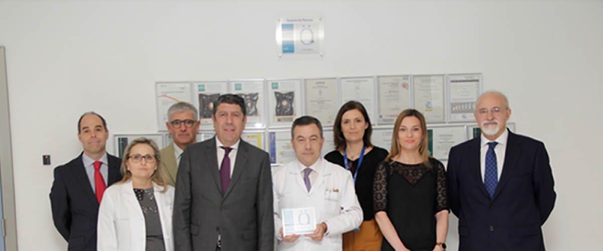 Descubrimiento de la placa de acreditación QH de IDIS en el Hospital de Manises