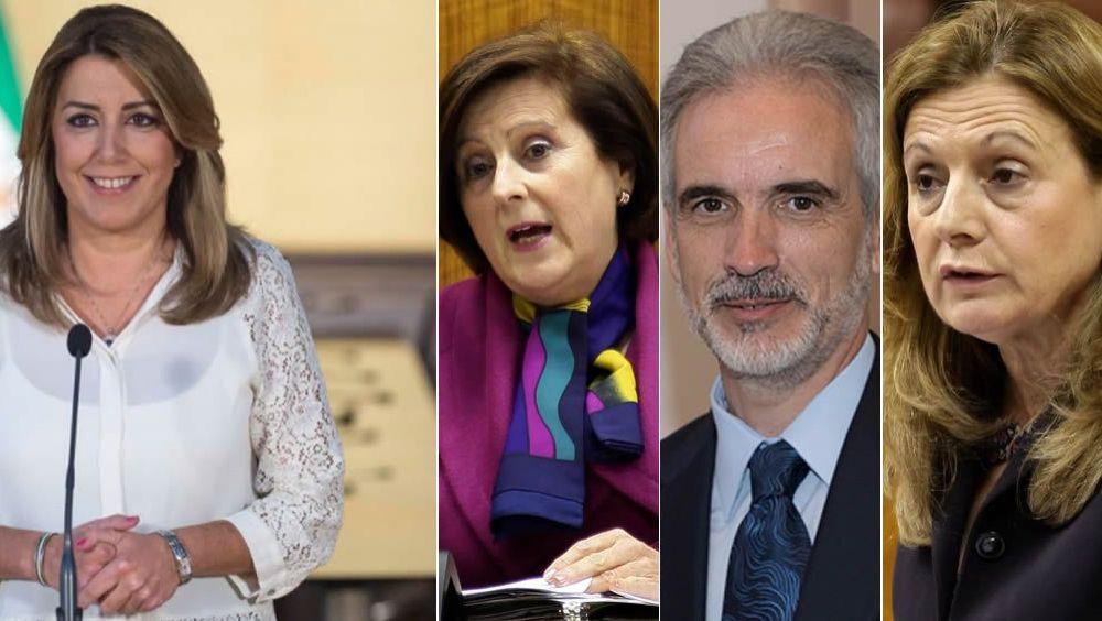 Tres consejeros han liderado Sanidad durante el mandado de Susana Díaz: Sánchez Rubio, Aquilino Alonso y Marina Álvarez