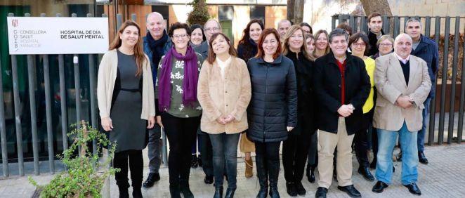 La presidenta del Gobierno de las Islas Baleares, Francina Armengol, visita el nuevo Hospital de Día de Salud Mental del Sector Sanitario de Levante