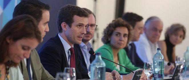 Pablo Casado, presidente del PP, encabeza el Comité Ejecutivo Nacional del partido.