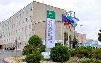 Fachada exterior del Hospital Jerez de la Frontera donde tuvo lugar la agresión a la enfermera