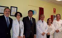 De izq. a dcha.: Fernado Mugarza, Marta Macías, Manuel Vilches, Félix Bravo, María Eugenia Pinar y José Giberto González.
