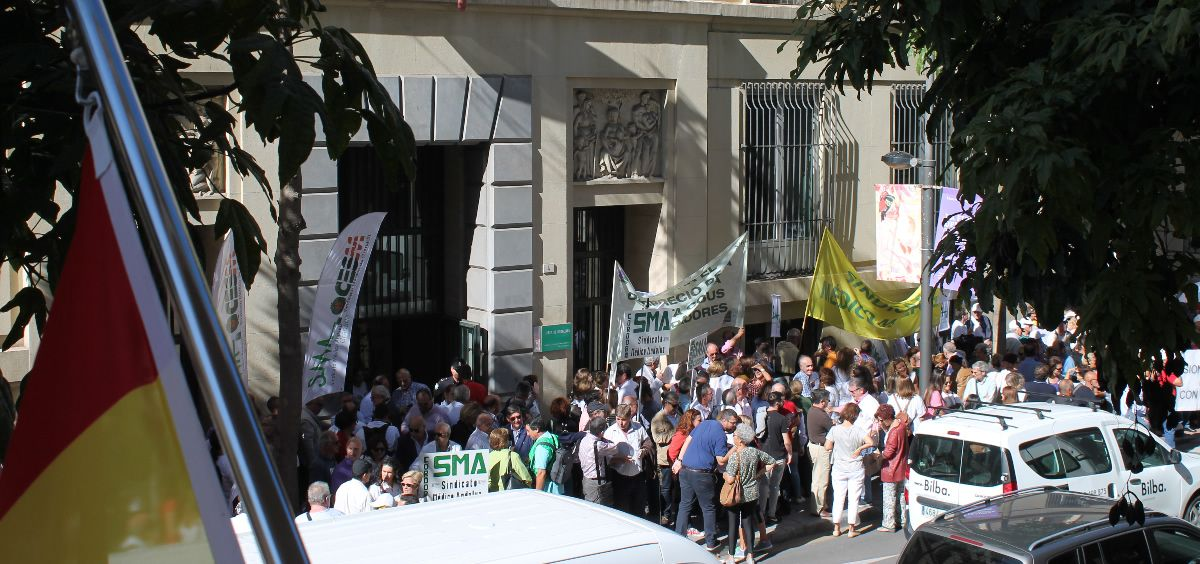 Imagen de archivo de unas de las huelgas por la Atención Primaria de los últimos meses en Málaga