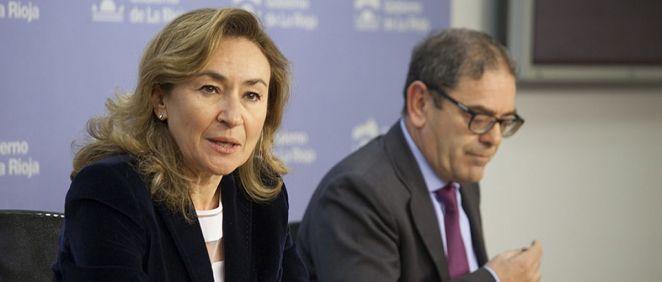 La consejera de Salud, María Martín, y el director del Área de Salud, José Miguel Acítores