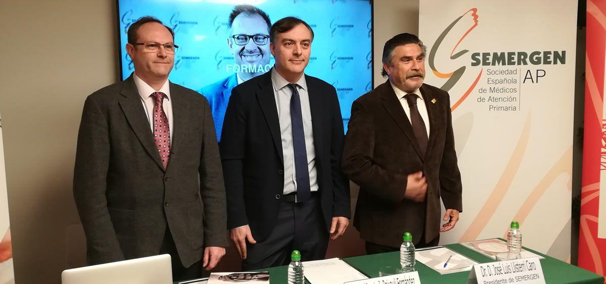 De izquierda a derecha: Jesús C. Gómez, Vicente J. Baixauli y José Luis Llisterri, este miércoles durante la presentación del congreso
