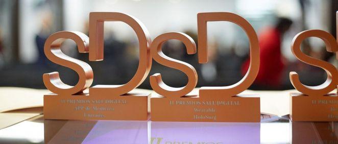 Estatuillas de la edición anterior de los Premios SaluDigital