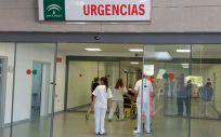 Profesionales sanitarios en centro sanitario de Andalucía