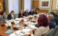María Luisa Carcedo, durante la reunión de su departamento con el Foro de Médicos de Atencion Primaria, el pasado 16 de enero.