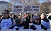 Una instantánea de la manifestación del pasado mes de enero en Valladolid.