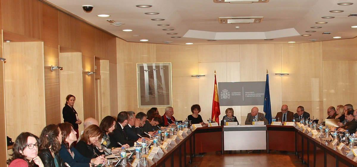 La reunión con las sociedades profesionales ha estado presidida por la ministra de Sanidad, María Luisa Carcedo
