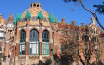Fachada exterior del Hospital de la Santa Creu i Sant Pau donde ocurrió la negligencia médica