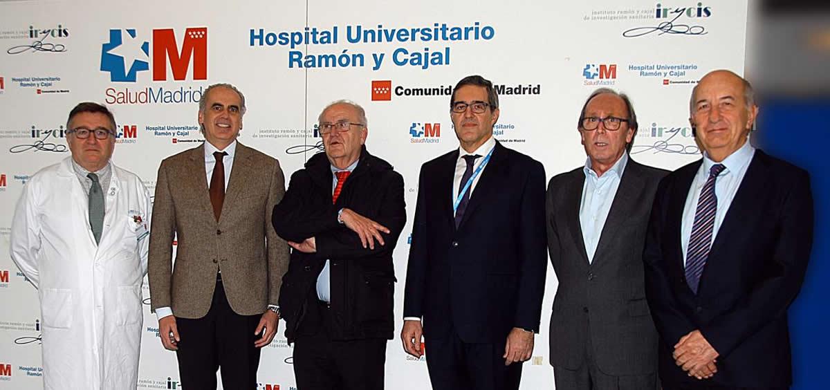 Enrique Ruiz Escudero inaugurando la XXV jornada del servicio de Geriatría del Ramón y Cajal