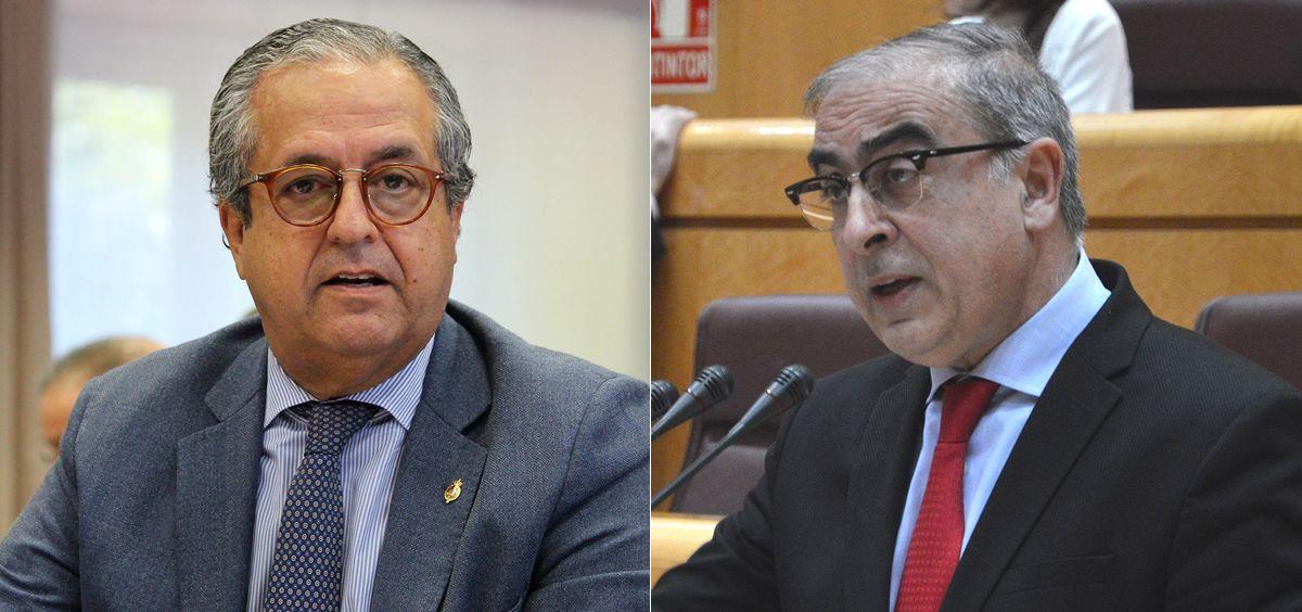 Antonio Alarcó (PP) y José Martínez Olmos (PSOE), senadores que han redactado el borrador del informe de la ponencia de estudio sobre Genómica.