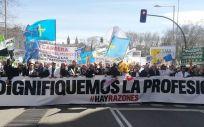 Bajo el lema 'Dignifiquemos la profesión', los médicos manifestaron el pasado año por las calles de Madrid