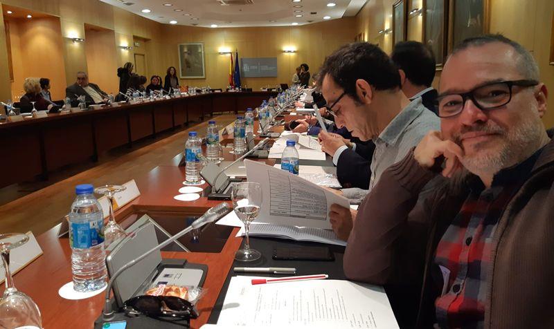 Representantes de Cesida en la Comisión.