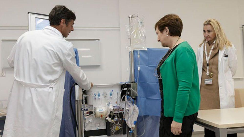 Imagen de archivo de la presentación del dispositivo de perfusión pulmonar ex vivo