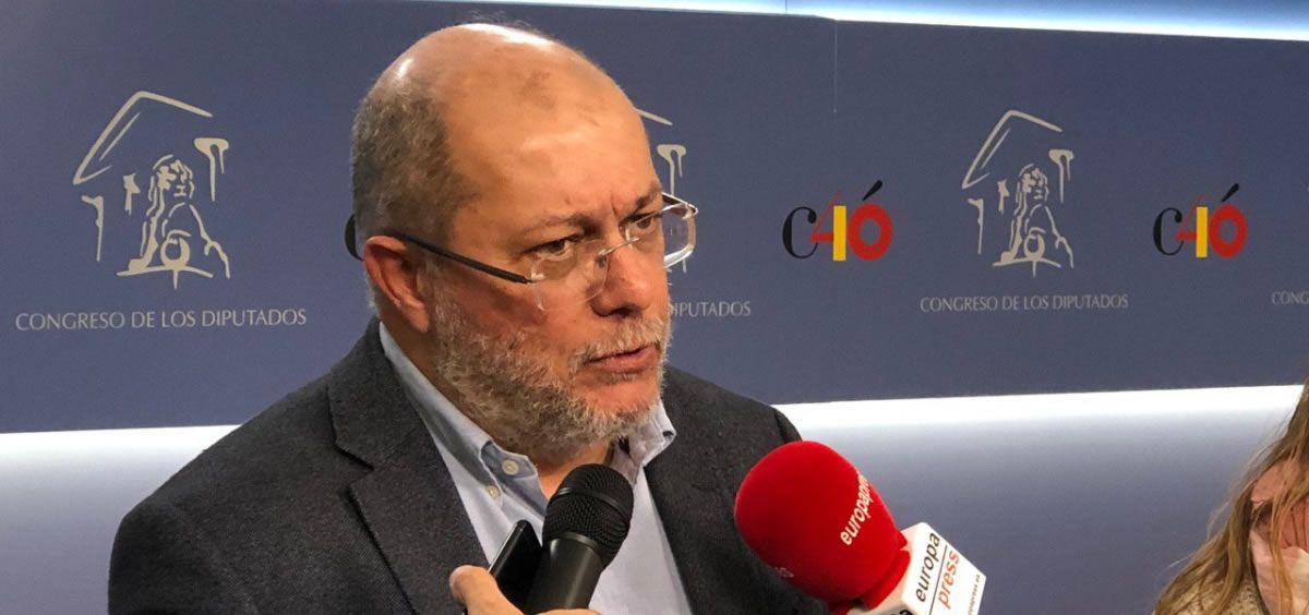 Francisco Igea, portavoz de Sanidad de Ciudadanos durante las declaraciones sobre la ley de la eutanasia