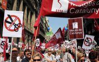 Manifestación de Metges de Catalunya (MC) por las calles de la autonomía