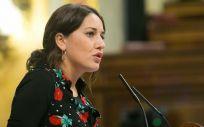 Ana Marcello, diputada de Unidos Podemos, en el Congreso de los Diputados,