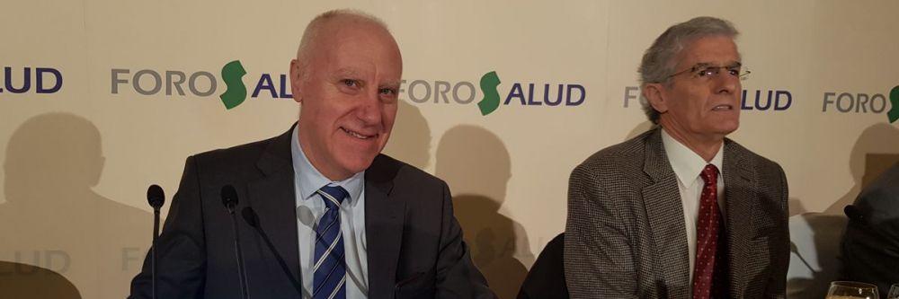 Faustino Blanco, secretario general de Sanidad y Consumo, junto a José Manuel Freire, portavoz de Sanidad del PSOE en la Asamblea de Madrid.