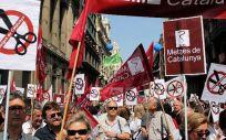 Imagen de una de las protestas de los médicos catalanes durante sus movilizaciones este pasado otoño.