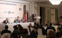 Faustino Blanco, secretario general de Sanidad, interviniendo en un desayuno informativo organizado por Nueva Economía Fórum.