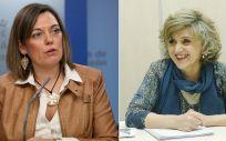 La portavoz de la Junta de Castilla y León, Milagros Marcos, y María Luisa Carcedo, ministra de Sanidad, Consumo y Bienestar Social