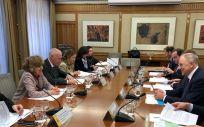 Carcedo con Andriukaitis, durante la reunión