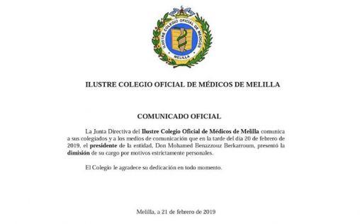 El presidente de médicos de Melilla dimite, investigado por la muerte de una paciente