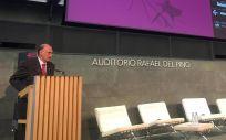Julian García Vargas, ex ministro de Sanidad, durante la apertura del acto organizado por Forbes España