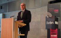 Enrique Ruiz Escuedero, consejero de Sanidad, durante su internvión en el Forbes Summit Healthcare
