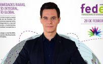 Cartel del Día Mundial de las Enfermedades Raras 2019, con el presentador Christian Gálvez