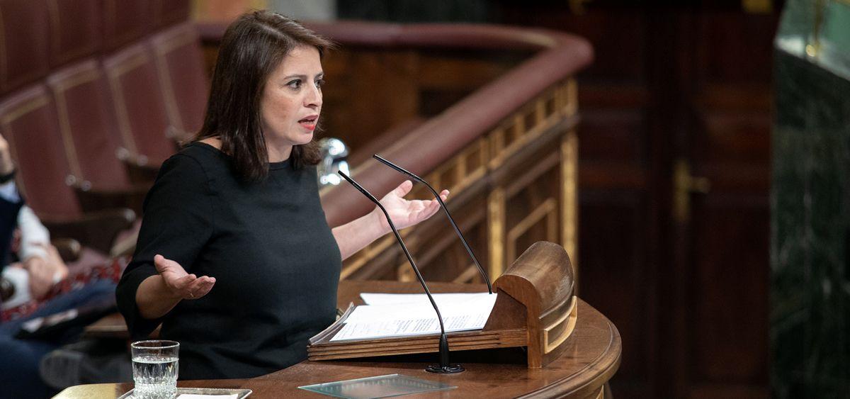 Adriana Lastra, portavoz del Grupo Parlamentario Socialista en el Congreso.