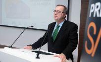 El director gerente del Hospital de La Princesa, Fidel Illana Robles, durante su intervención en la gala de los III Premios SaluDigital.