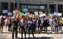 Manifestación de pacientes y familiares con Fibrosis Quística (Foto. AMFQ)