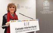 María Luisa Carcedo, ministra de Sanidad, tras presidir su segundo Consejo Interterritorial del SNS.