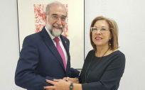 Fernando Domínguez y Pilar Ventura, consejeros de Navarra y Aragón