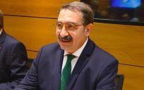 El consejero de Sanidad del Gobierno de Castilla-La Mancha, Jesús Fernández Sanz, durante el Consejo Interterritorial de este lunes