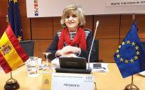 María Luisa Carcedo, ministra de Sanidad, preside el Consejo Interterritorial del SNS.