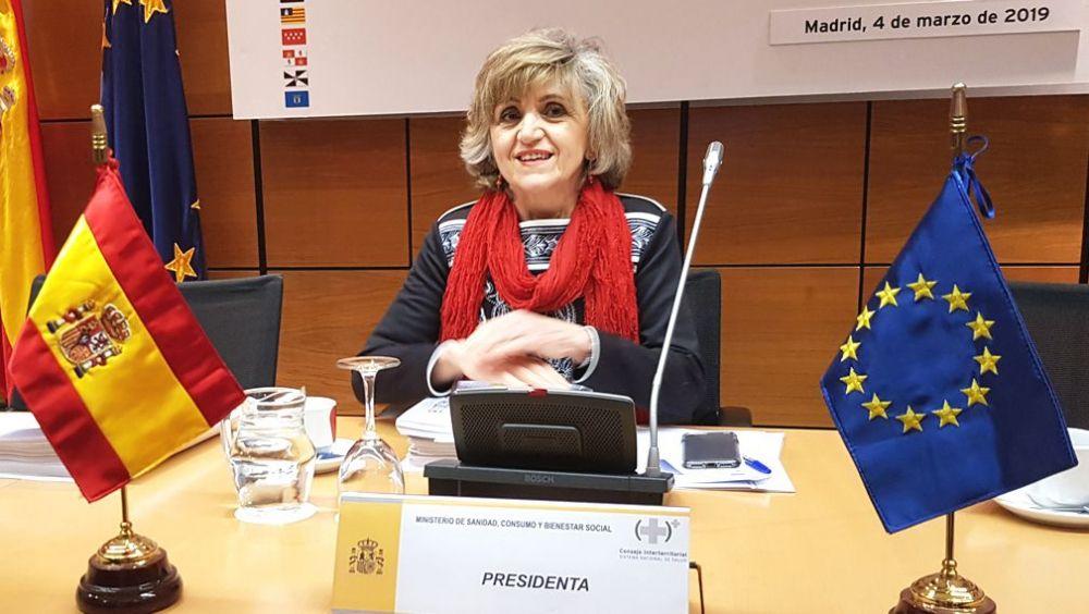 María Luisa Carcedo, ministra de Sanidad, presidiendo el Consejo Interterritorial del SNS.