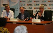 Javier Marta, Pablo Martínez y María del Carmen Martín en la jornada sobre el ictus