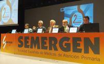 El consejero de Salud y Familias de la Junta de Andalucía, Jesús Aguirre, durante su intervención en las 'II Jornadas Nacionales de Cuidados Paliativos' organizadas por Semergen